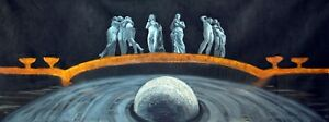 Gods and planet, Birth of Jupiter, oil painting