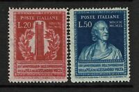 Italy SC# 526 and 527, Mint Never Hinged - S11476