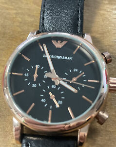 Emporio Armani Men's Luigi Chronograph Watch Rose Gold PVD AR1809