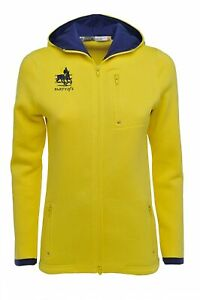 The World Cup Collection Women's Full Zip Fleece Jacket with Hood - Yellow, XL