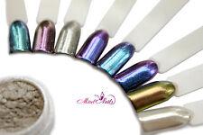 CROMO Polvo Plata Efecto Espejo Cromo powder Nail Art CROMO