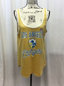 Los Angeles Chargers Women's Junk Food Time Out Tank Top SIZE L