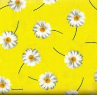 Oops a Daisy yellow  floral Kanvas fabric