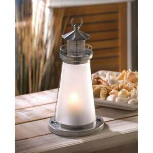 12 WHITE FROSTED LIGHTHOUSE CANDLE HOLDER LANTERN EVENT WEDDING CENTERPIECES NEW