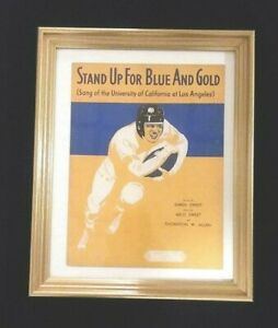 "UCLA - Music Sheet - "" Stand Up For The Blue and Gold"" - Nr. Mint - Framed"