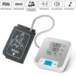 Professional Automatic Blood Pressure Monitor Upper Arm Machine Large BP Cuff
