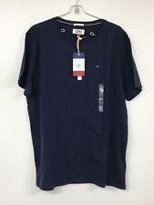 Tommy Hilfiger Men's Short Sleeve Crew Neck Flag T-Shirt, Black Iris, XL, NWT