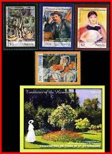 NEVIS 2004 RUSSIA/HERMITAGE PAINTINGS + S/S mnh ** CEZANNE, RENOIR, MONET