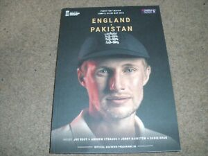 ENGLAND V PAKISTAN 1ST TEST MATCH PROGRAMME @ LORDS 24-28TH MAY 2018