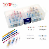 100pcs Assorted Solder Heat Shrink Sleeves Splice Butt Connector 26-10 AWG Box E