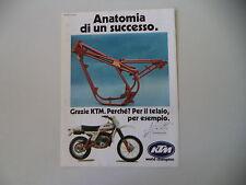advertising Pubblicità 1979 MOTO KTM GS 125 '80