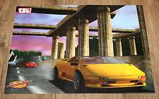 Nintendo 64 N64 Automobili Lamborghini very rare small Poster 30x42cm