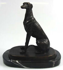 Windhund figur hund  hundefigur greyhound bronze figur whippet