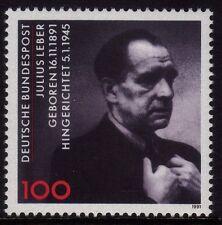 Germany 1991 Birth of Julius Leber, Politician SG 2431 MNH