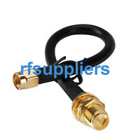 SMA male Plug to RP-SMA female (male pin) bulkhead pigtail cable KSR195 1M
