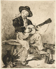Manet Print Reproduction: Le Guitarreo - The Spanish Singer - Fine Art Print