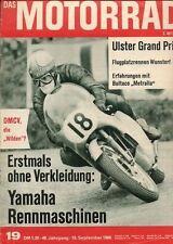 M6619 + BULTACO Metralla 200 ccm + Ulster Grand Prix + Das MOTORRAD 19/1966