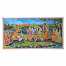 Immagine KRISHNA RADHA 100 x 50 cm induismo credo Dio stampa d'arte decorazione religione
