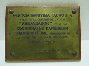 Ship Shield Plaque & Signs Vintage Maritime Antiques Original (22)