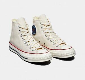 Converse Mens Chuck 70 Hi Parchment 169894C Beige/Navy/Egret/Red Sizes 7.5 9 NWB