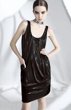Diane Von Furstenberg Lesley Black Metallic Liquid Bubble Tank Dress~Sz-2~CUTE~