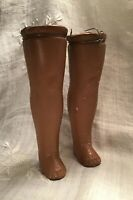"Vintage Pair-African Composition Lady/Girls DOLL LEGS- Flange- 6"" Straight Legs"