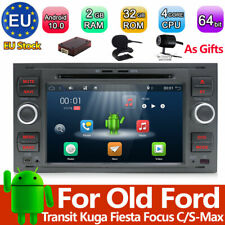 7'' Android 10 Car Stereo DVD GPS Sat Nav DAB+ for Ford Kuga/C-Max/S-Max/Fiesta