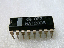 "Qty 2x HA12005 OEM HITACHI  ""Electronic Control IC for Micro., Record, & Play"""