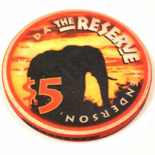 THE RESERVE Casino $5 Chip Grand Opening Elephant 1998 Henderson NV CLOSED