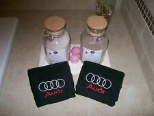 Embroidered  Bath or Gym  Hand Towels car logo Audi -Fathers day gift