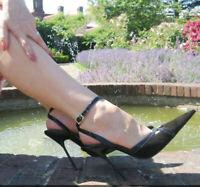 UK Women High Heel Pointy Toe Pumps Stilettos Nightlcub Shoes Slingback Sandals