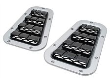 LAND ROVER DEFENDER XD WING TOP VENTS SILVER WITH BLACK CENTER DA1975
