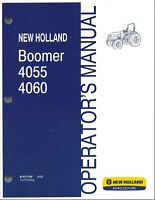 NEW HOLLAND Boomer 4055, 4060  Compact TRACTOR OPERATOR MANUAL 87477192