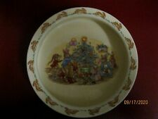 Royal Doulton Bunnykins FAMILY CHRISTMAS porridge oatmeal bowl EXCELLENT