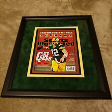 Aaron Rodgers Signed Autographed Football SI Sports Illustrated Magazine Packers