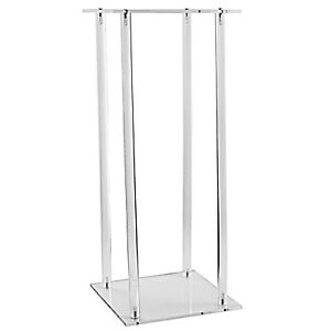 """Modern Acrylic Clear Flower Stand Table Centerpiece 23.5"""" Height"""