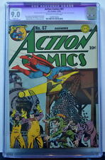 ACTION COMICS #67 CGC 9.0 Superman 1943