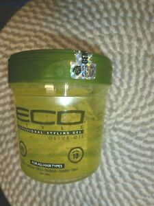 ECO STYLE~~OLIVE OIL~~MAX HOLD 10~~PROFESSIONAL STYLING GEL 16 OZ SEALED!