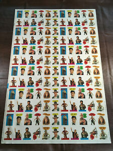 1984 TOPPS INDIANA JONES AND THE TEMPLE OF DOOM UNCUT SHEET 132 STICKER CARDS