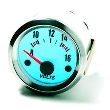 Voltmeter Voltanzeige Volt Batterieanzeige Zusatzinstrument 52mm PLASMA BLAU