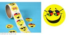 Lot of 24 Round Smiley Face #2 Stickers - For Christmas Stockings & Parties