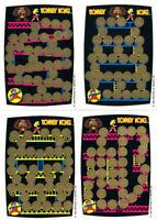 DONKEY KONG 4x Rubbelkarte - Nintendo für Sammler - 1982 Game&Watch