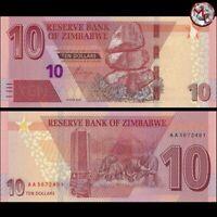 Zimbabwe - 10 Dollars 2020 - Pick- NEW - UNC