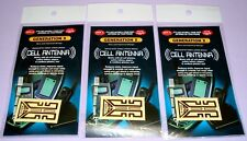 Set of 3 As Seen on TV Cell Phone Antenna Booster and Safeguard Stickers (QTY 3)