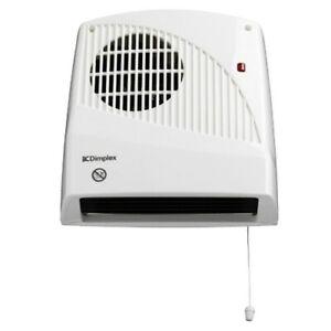 Dimplex FX20VE 2kW Bathroom Downflow Fan Heater Wall Mounted Timer Pullcord