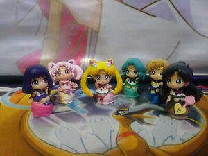 Sailor Moon Petit Chara Land PVC Figure Ice Cream Party 6pc set Toy Gift