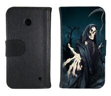 Book Tasche für Handy Design Schutz Hülle Case Cover Bumper Motiv Sensenmann
