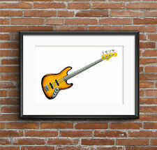 Jaco Pastorius' 1962 Fender Jazz 'Bass of Doom' POSTER PRINT A1 size