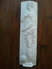 one Greek lady water bearer decorative ornate plaster wall hanging plaque new