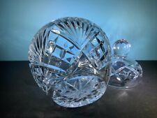 New listing CRYSTAL WATERFORD STYLE HAND CUT COOKIE JUR